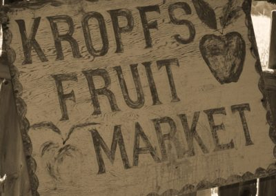 Original Kropf Fruit Market Sign 1970's
